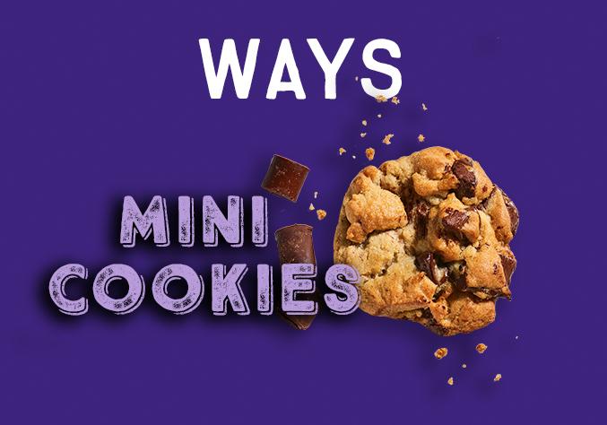 New Bite Size Chocolate Chunk Mini Cookies
