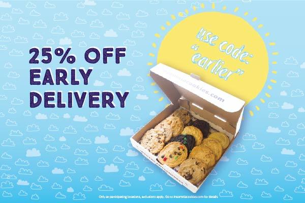 Get 25% Off Cookies for Breakfast!